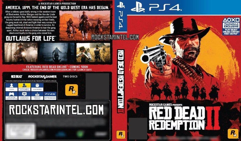 Okładka Red Dead Redemption 2 na PS4