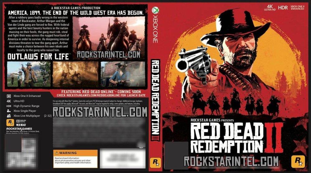 Okładka Red Dead Redemption 2 na Xbox One